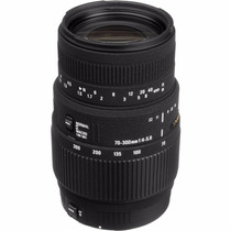 Lente Sigma 70-300mm F/4-5.6 Dg Macro Autofoco Parasol Canon