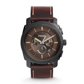 Reloj Fossil Fs5121 Cronografo Cuero Envio Gratis