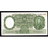 Billete Argentina 50 Pesos Moneda Nacional Bottero 2011