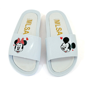 Chinelo Sandália Melissa Beath Slide Mickey Minnie Feminino