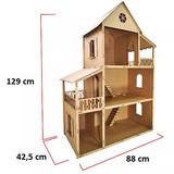 Casa P/ Boneca Barbie Desmontada 129x88x42,5 Mdf