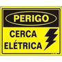 Placa Aviso Perigo Cerca Elétrica Adesivo Pvc Frete Grátis