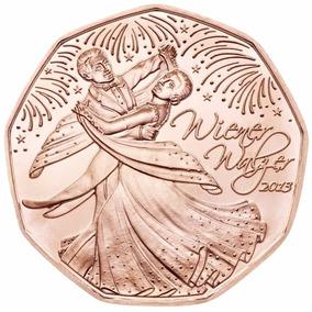 5 Euros Comemorativa De Cobre Áustria 2013 - Valsa Vienesa