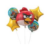 Bouquet Combo De Globos Metalizados Angry Birds X5