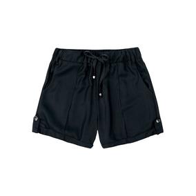 Shorts Feminino Em Tecido Sarjado Hering - 324hb04 Preto