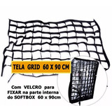 Kit Com 2 Tela Grid Colméia Softbox 60 X 90cm