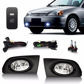 Kit Farol De Milha Honda Civic 2001 2002 2003 Botão Original