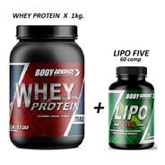 Whey Protein 1 Kg ( Proteína Pura ) + Lipo Five 60 Comprimidos. Body Advance