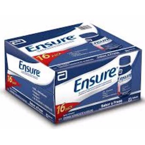 Caja Ensure Chocolate O Fresa 16/237 Ml