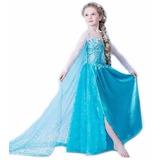Vestido Elsa Pronta Entrega Frozen Fantasia Princesa Lindo!!