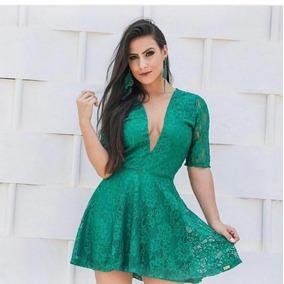 Vestido Renda Com Tule Luxo