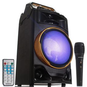 Caixa Som Amplificada Bluetooth Briwax Fbx108 40w Portátil