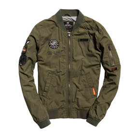 Chamarra Superdry Rookie Aviator Patched Bomber Jacket...