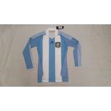 Camiseta Tech Fit Seleccion Argentina 2010 adidas Manga Larg