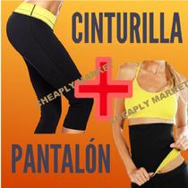 Faja Reductora Combo Fitness Cinturilla+pantalon Pierde Peso