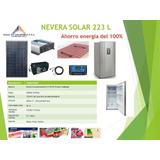Nevera Solar 223 L Completa Con Panel Y Batería