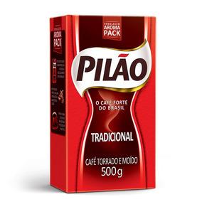Café Pilão Torrado E Moído Tradicional Vácuo 500g