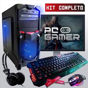 Pc Completo Gamer Com Wi-fi E Monitor Lcd! + 30 Jogos !
