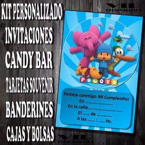 Kit Imprimible Pocoyo Personalizado Invitaciones Candy Bar