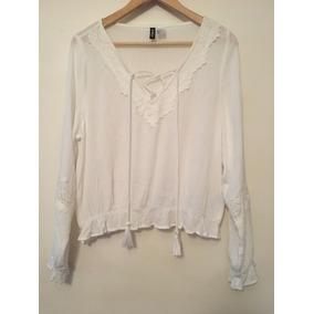 H&m Camisa Mujer, Ideal Verano! Con Encaje