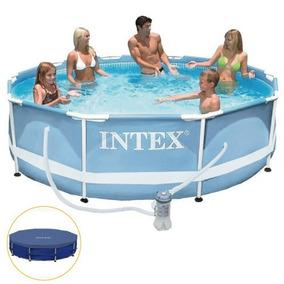 Piscina Intex 4.485 Litros Estrutural Capa E Bomba Filtrante