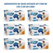 Absorvente Para Seios Affagio Kit 06 Cxs C/30 Un Cada