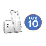 Pack 10 Carcasa Transparente Para Samsung S7 Y S7 Edge Gocy