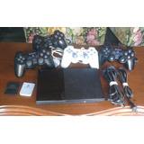 Play Station 2 Con 4 Controles, 20 Juegos Y 2 Memory Card