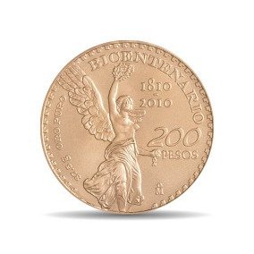 Bicentenario 200 Pesos Moneda Oro 37.5 Gr 24 Kt