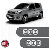 Friso Lateral Fiat Uno 2016 4 Portas Cinza Scandium Show D+