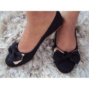Sapatilha Preta Sapato Feminina Novo Sapatilhas Exclusivas