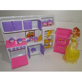 Cozinha Barbie Geladeira Fogão Armario Panelinhas