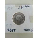 Moneda Usa Roosevelt Diez Centavos 1946 Plata