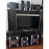 Mueble Televisor Equipo Centro De Entretenimiento