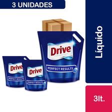 3 Detergentes Drive Matic Líquido, Doypack 3 L