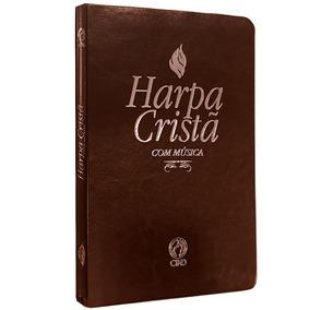 Harpa Crista Com Musica Letra Grande Marrom Cpad Luxo
