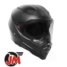 Jm-motors Casco Deportivo Dual Sport Agv Ax-8 Carbon Mate