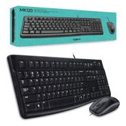 Teclado Y Mouse Logitech Mk120 Usb Combo Multimedia Slim