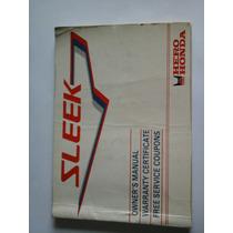 Manual De Usuario / Mantenimiento De Hero Honda Sleek