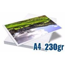 Papel Fotográfico Glossy 230 Gramas A4 100 Folhas