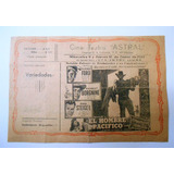 Antiguo Programa Cine Teatro Astral Miramar Glenn Ford 1957