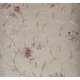 Papel De Parede Importado Floral Textura Alto Relevo Rosas