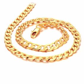 Pulseira Masculina Dourada Banhada A Ouro 18k Grossa 5 Mm