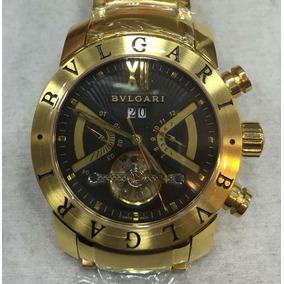 263aadeaa5b Bvlgari Iron Man Automático Fundo Transparente Rosé - Relógio ...