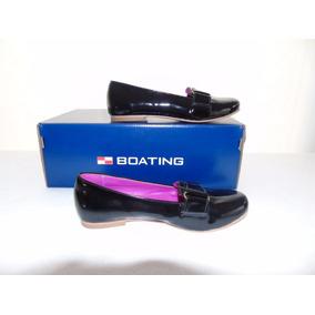 Zapatos Con Vincha Acharolado Mujer Boating