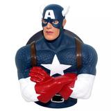 Kit 03 Cofres Busto Marvel Hulk Homem Aranha Capitão America
