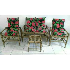 Sofá De Bambu Jogo De Vime Poltronas Cadeiras Sacada Varanda