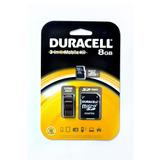 Tarjeta Micro Sd 8gb Duracell Clase 4 Adaptador 3 En 1