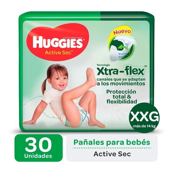 Pa?ales Huggies Active Sec Xtra-flex Ultrapack M G Xg Xxg