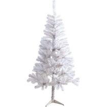 Árvore De Natal Pinheiro Branca 1,20m C/168 Galhos